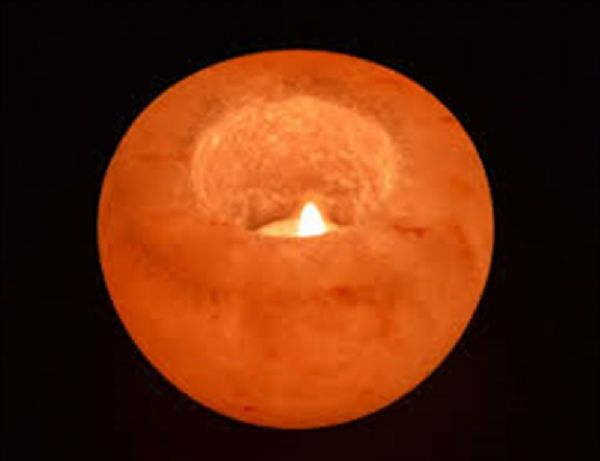 Himalayan salt tea-light holder (approx. 600g)